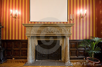 Fireplace in castle