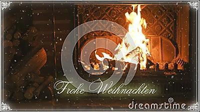 fireplace Natal e neve congratulation vídeos de arquivo