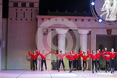 Fires of Anatolia. Performance in the amphitheater of Anatolia. Editorial Stock Image