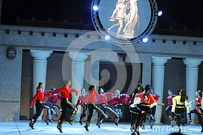 Fires of Anatolia. Performance in the amphitheater of Anatolia. Editorial Image