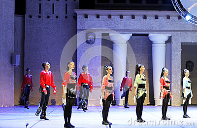 Fires of Anatolia. Performance in the amphitheater of Anatolia. Editorial Photo