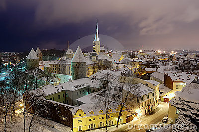 Fires of winter old Tallinn