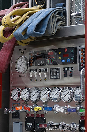 Firetruck Gauges, Dials and Hoses