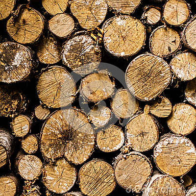 Free Firewood Background Stacked Stock Photography - 34617242