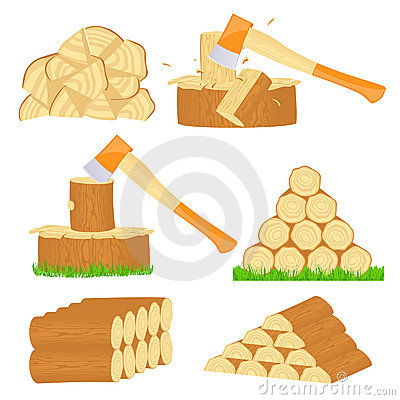 Firewood chop icons