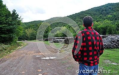 Firewood and Lumberjack