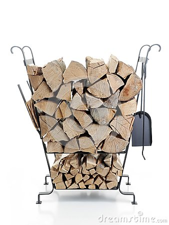 Firewood metal stand