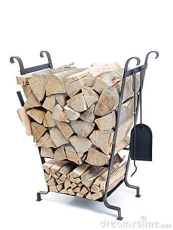 Firewood metal stand