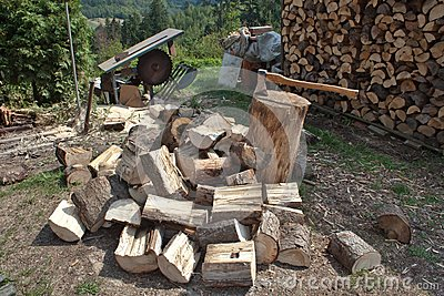 Firewood, preparing for winter
