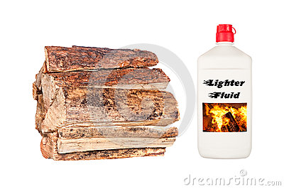 Firewood and Starter Fluid