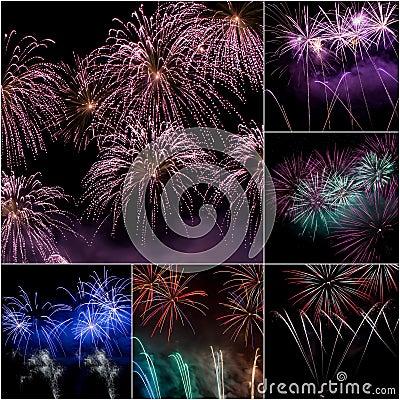 Firework Collage