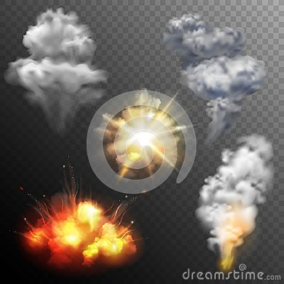 Free Firework Explosions Shapes Set Stock Images - 56855904