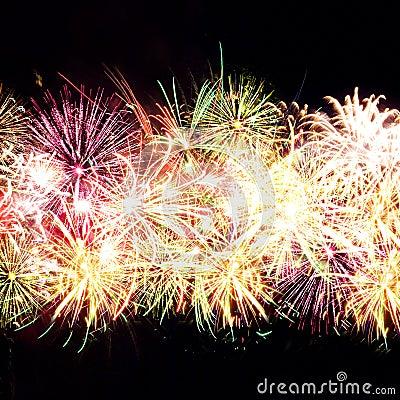 Free Firework Streaks In Night Sky, Celebration Royalty Free Stock Photo - 14911625