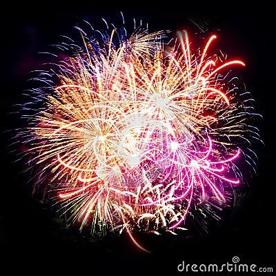 Free Firework Streaks In Night Sky, Celebration Royalty Free Stock Photos - 14911638