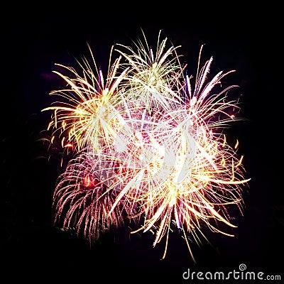 Free Firework Streaks In Night Sky, Celebration Royalty Free Stock Image - 14911656