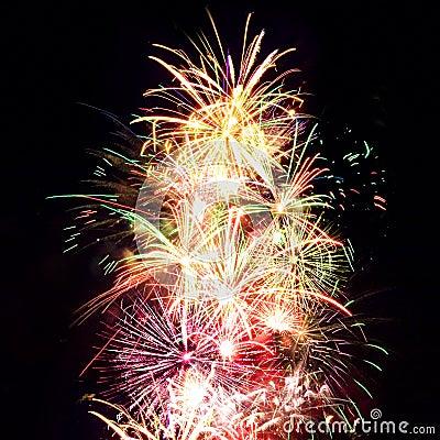 Free Firework Streaks In Night Sky, Celebration Royalty Free Stock Images - 14911679
