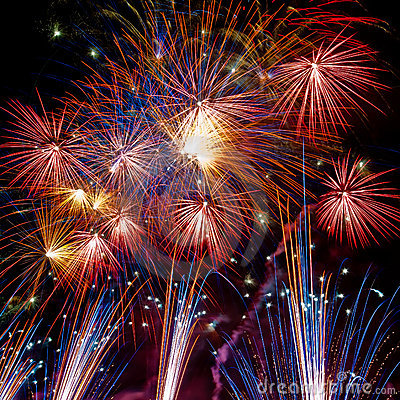Free Firework Streaks In The Night Stock Photography - 15796332