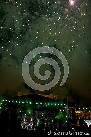 Fireworks Editorial Photo
