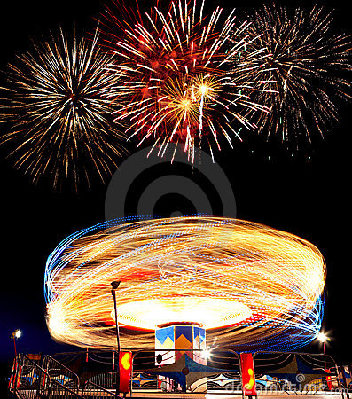 Fireworks at the Amusement Park