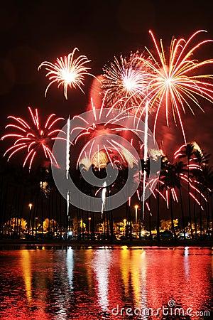 Free Fireworks At Ala Moana Stock Photos - 8230473
