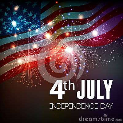 Free Fireworks Background For 4th Of July Stock Photography - 54544172