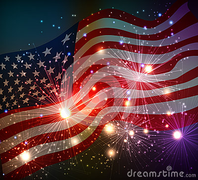 Free Fireworks Background For 4th Of July Stock Images - 56044284