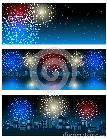 Free Fireworks Banners Royalty Free Stock Photo - 117187125