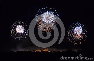 Fireworks in Carcassonne