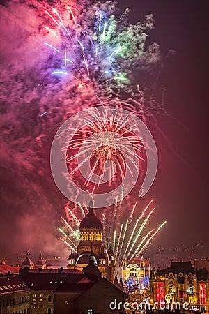 Fireworks in Cluj Napoca