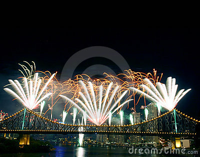 Fireworks With Copyspace Stock Photos - Image: 225793