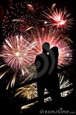 Free Fireworks Couple Stock Image - 15186681