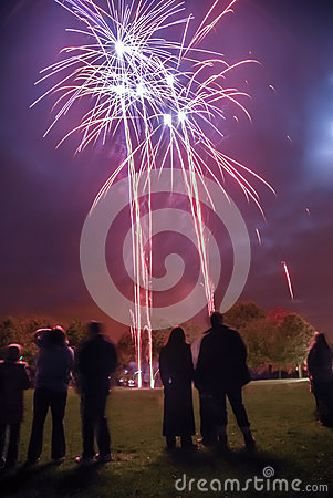 Fireworks Crowd Editorial Photo