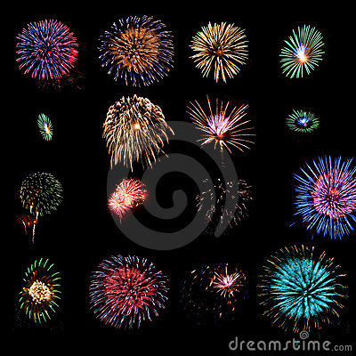 Fireworks design elements