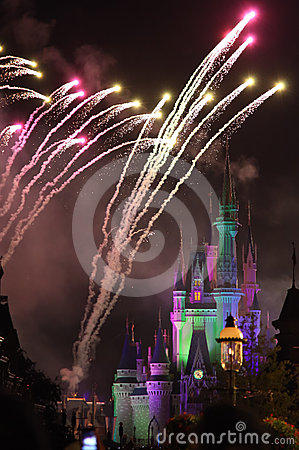 Fireworks in Disney s Magic Kingdom Editorial Image