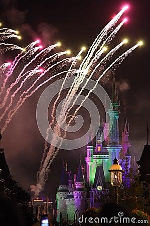 Fireworks in Disney s Magic Kingdom Editorial Image
