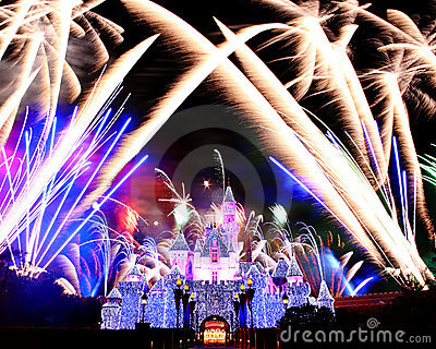 Fireworks in Disneyland Editorial Image