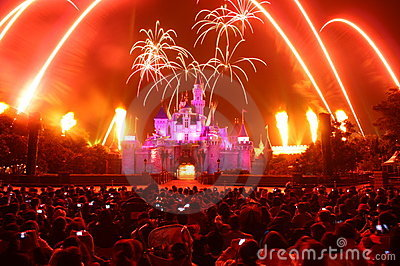 Fireworks at Disneyland Editorial Photography