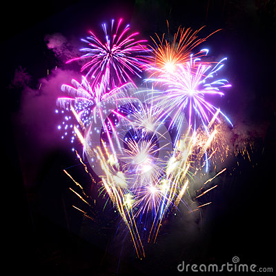 Free Fireworks Display Royalty Free Stock Photo - 27761655