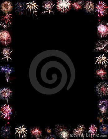 fireworks display border or background royalty free stock