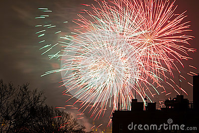Fireworks display on New Years Eve
