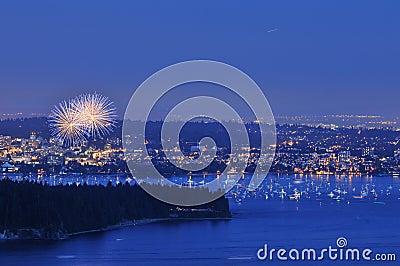 Fireworks at english bay