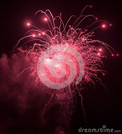 Free Fireworks Explosion And Sparks Stock Photo - 49235350