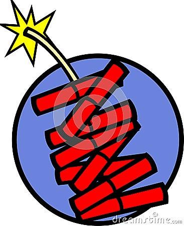 Fireworks fire crackers vector illustration