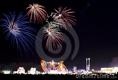 Fireworks At The Fun Fair Stock Photos - Image: 3608803