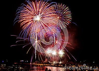 Fireworks in Honolulu July 4th