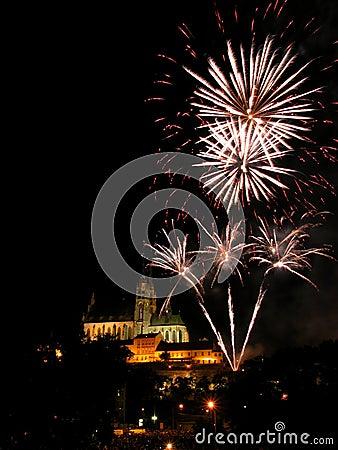Free Fireworks In Brno Stock Image - 19141991