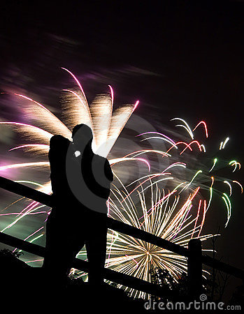 Free Fireworks Kiss Stock Photography - 15247392