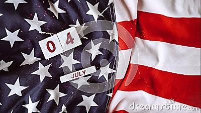 Fireworks light sparks large display event 4th of July God Bless America Celebrating Independence Day United States of. God Bless America Happy celebrating vector illustration