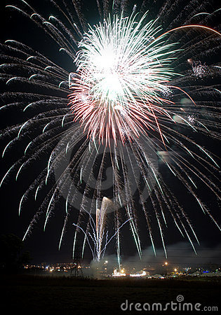 Fireworks at a local festival