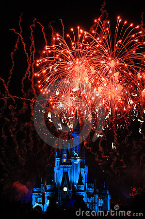 Fireworks in the Magic Kingdom Editorial Photography